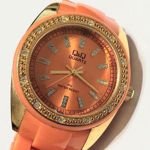 Q&Q Mandarine Orange Watch
